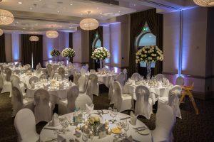 Bedford Lodge Hotel wedding uplighting