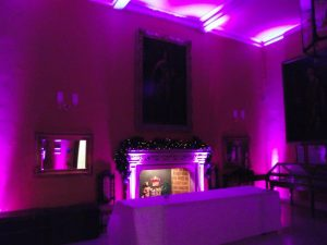 Venue Uplighting - Hinchingbrooke House