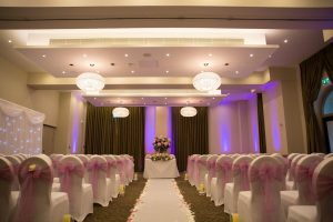 Bedford Lodge Hotel Newmarket Wedding Uplighting