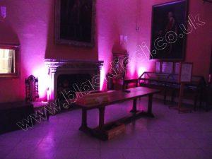 Uplighter Hire - Venue Lighting Hire - Hinchingbrooke House